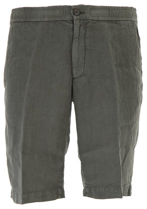 Ermenegildo Zegna Shorts for Men, Military Green, linen, 2017, L M