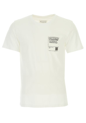 Maison Martin Margiela T-Shirt for Men, White, Cotton, 2017, L M S XL