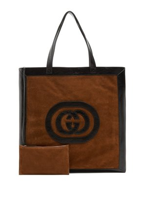 Ophidia large suede tote bag