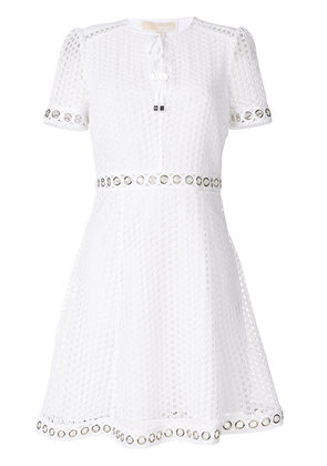 Michael Michael Kors grommeted lace dress - White