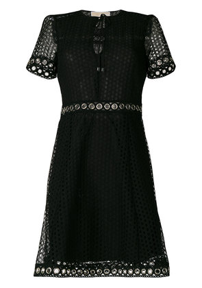 Michael Michael Kors grommeted lace dress - Black