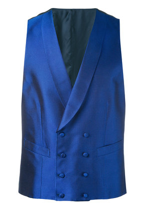 Canali double breasted waistcoat - Blue