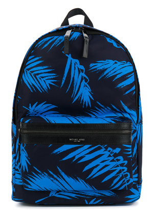 Michael Michael Kors palm print backpack - Blue