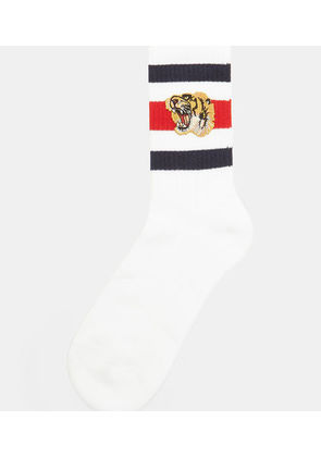Little Williams Tiger Knit Socks