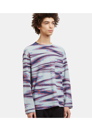 Blurred Stripe Knit T-Shirt