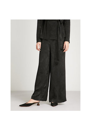 Katherina mid-rise relaxed woven trousers