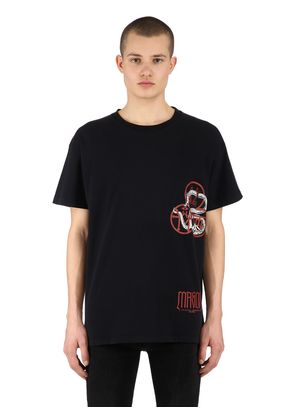 MIDNIGHT RITUAL PRINTED JERSEY T-SHIRT
