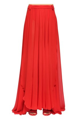 SILK CREPE GEORGETTE LONG SKIRT