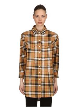 OVERSIZED RED WING CHECK COTTON SHIRT