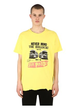 SEX PISTOLS RAW CUT HEM JERSEY T-SHIRT