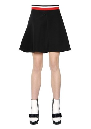 RIBBED STRETCH JERSEY SKIRT