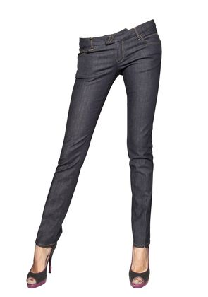 SLIM UNWASHED DENIM JEANS