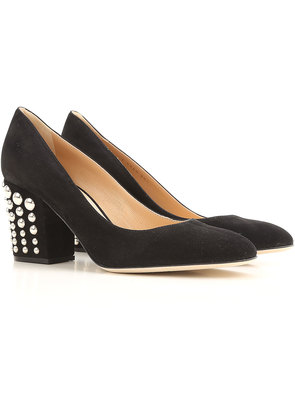 Sergio Rossi Pumps & High Heels for Women On Sale, Black, Suede leather, 2017, 4 5