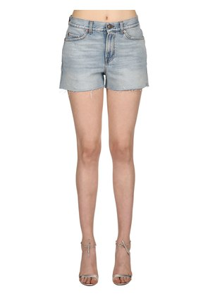 MARBLE STONE BLEACHED DENIM SHORTS