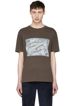 Beige Jaceye Smith Print T-Shirt Acne Studios