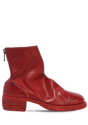 796Z ZIP-UP FULL GRAIN LEATHER BOOTS