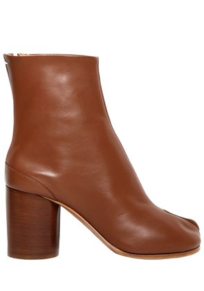 80MM TABI LEATHER ANKLE BOOTS