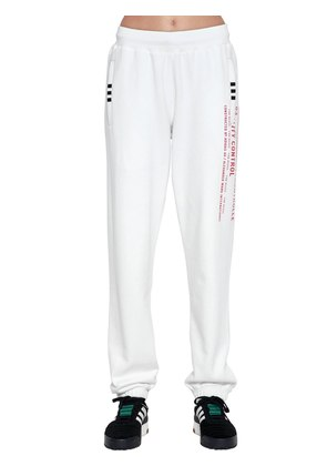 AW WAREHOUSE PRINT COTTON SWEATPANTS