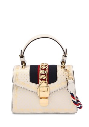 SMALL SYLVIE GUCCY & STARS LEATHER BAG