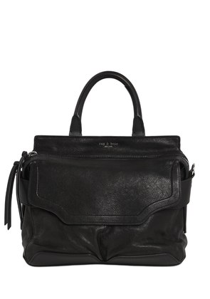 SMALL PILOT LEATHER TOP HANDLE BAG