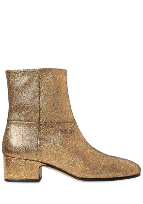 40MM CRACKLED METALLIC LEATHER BOOTS