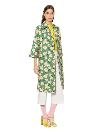 MAGNOLIA PRINTED COTTON DUCHESSE COAT