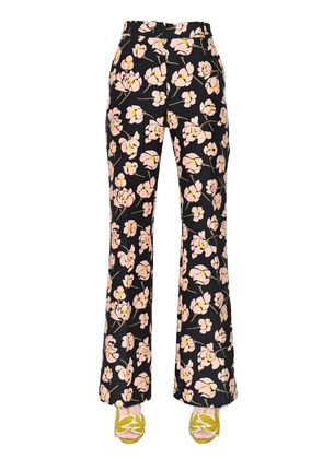 MAGNOLIA PRINTED COTTON DUCHESSE PANTS