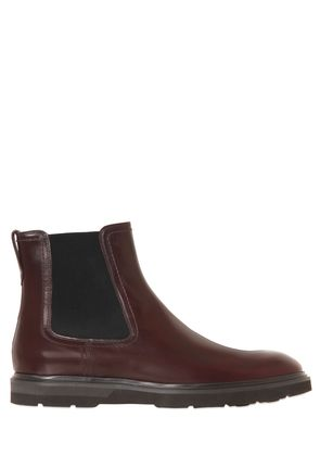 BRUSHED LEATHER CHELSEA BOOTS