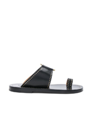 Isabel Marant Leather Jeppy Studded Sandals in Black