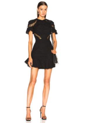 Zimmermann Helm Circle Flutter Dress in Black