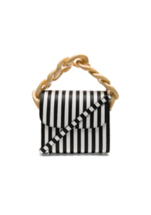 Marques ' Almeida Chain Bag in Black,Stripes
