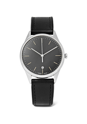 C36 Stainless Steel And Leather Watch