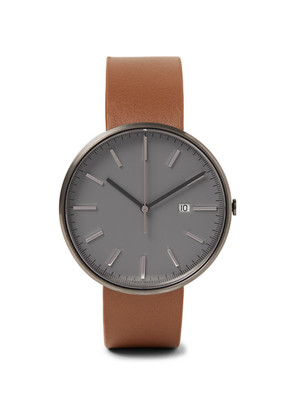 M40 Pvd-coated Stainless Steel And Leather Watch