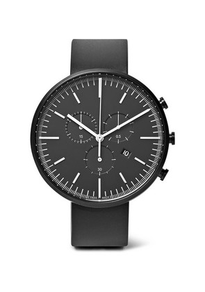 M42 Chronograph Pvd-coated Stainless Steel And Rubber Watch