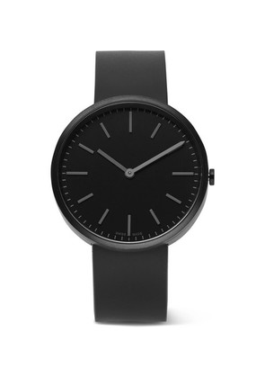 M37 Pvd-coated Stainless Steel And Rubber Watch