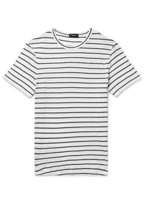 Striped Cotton And Linen-blend T-shirt