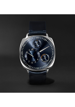 Type 1 Squared Mechanical 40mm Stainless Steel And Leather Watch