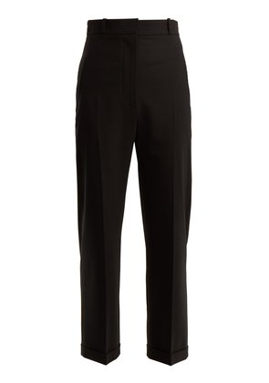 Revers tailored cropped trousers