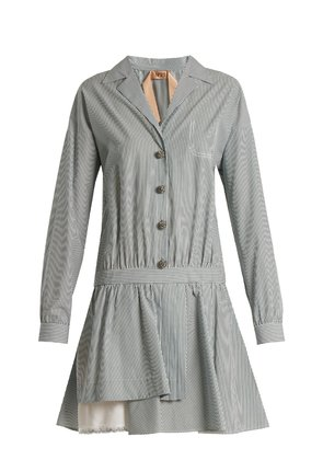 Striped cotton shirtdress