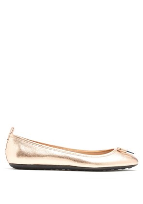 Ballet grained-leather flats