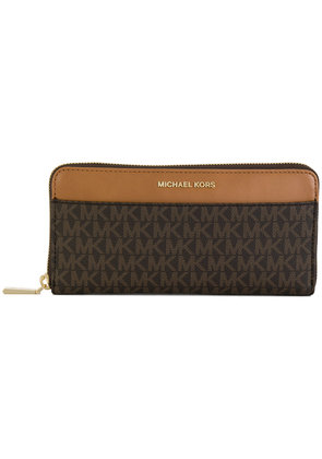Michael Michael Kors monogram continental wallet - Brown