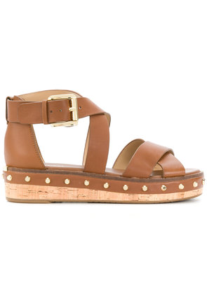 Michael Michael Kors Darby flatform sandals - Brown