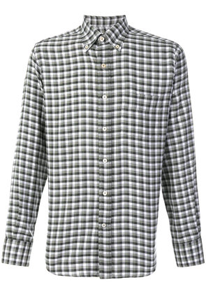 Canali modern fit checked shirt - Green