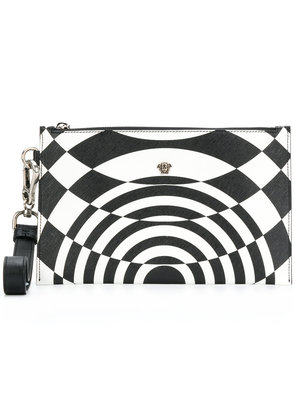 Versace illusion effect clutch - White