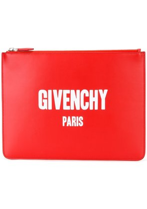 Givenchy logo print pouch - Red
