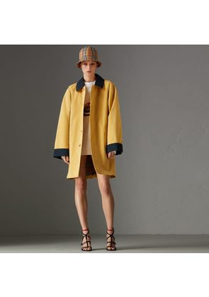 Burberry Reissued Waxed Cotton Gabardine Car Coat, Size: M, Yellow
