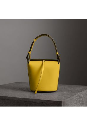 Burberry The Small Leather Bucket Bag, Yellow