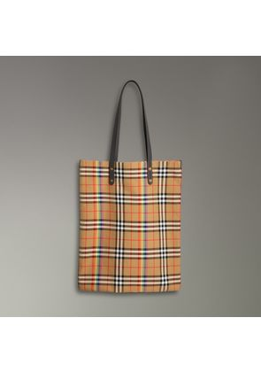 Burberry Large Rainbow Vintage Check Shopper, Grey