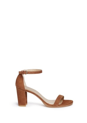 'Nearly Nude' block heel suede sandals