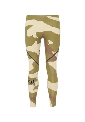 'Alphaskin 360' camouflage print performance tights